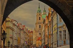 Dipinto / Painting (Mala Strana, Prague, Czech Republic) (AndreaPucci) Tags: malastrana prague czechrepublic mostecká andreapucci church saintnicolas