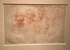 Michalangelo and Pupils_ Heads and Torsos of Various Figures (Hiero_C) Tags: metropolitanmuseum newyork art drawing michelangelo italian
