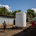 A water tunk inside the Doba IDP camp