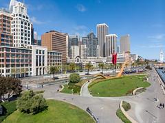 (A Sutanto) Tags: san francisco sf embarcadero waterfront promnade city urban skyline california usa america american cupid arrow cupids bow drone aerial