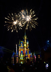 Cinderella Castle at night (mark.a.m.) Tags: disney world fireworks castle cinderella florida orlando night laser lazer