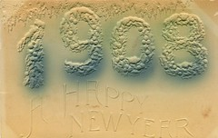 4331 (Ebenezer Maxwell Mansion) Tags: 1900s new year years eve holiday greeting cards postcards design