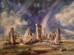 1-12 Thomas Cole at the Met (MsSusanB) Tags: constable stonehenge watercolor rainbow thomascole metropoltanmuseum metmuseum painting art exhibition nyc newyork hudsonriverschool landscape
