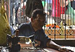 bangkok tailor (poludziber1) Tags: bangkok thailand people city summer travel urban asia market color tailor
