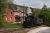 A Steam Train in the Front Yard (jwjordak) Tags: passengertrain 260 11 road house ev steam everettrailroad roaringspring pennsylvania unitedstates us