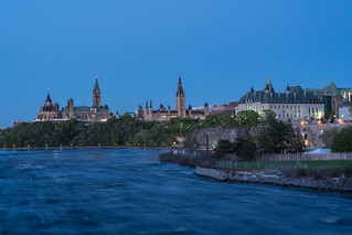 Parliament hill and Supreme Court of Canada from Portage Bridge