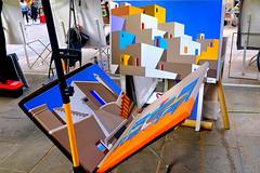 Buy Art (Fnikos) Tags: street plaça plaza people painting art sale outdoor