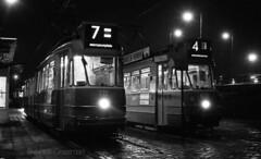 Strangers in the night (railfan3) Tags: amsterdam amsterdamoost amstelstation 1971 gemeentevervoersbedrijf gvb eindpunt eindhalte eindlus lijn7 gvb722 gvb603 lijn4 geledetramwagens openbaarvervoer tramvoertuigen tramverkeer tramstramlijnen grijzetrams trams nachtfoto tijdsopname nightphotography streetcars strassenbahnwagen strasenbahn streetscene amsterdamsetrams amsterdamtrams amsterdamsetram terminus publictransport trolleys tram tramcars transport tramway tramwagens triebwagen trammaterieel trammetjes gt8 gelenkwagen dubbelgeledetrams tramstellen vintagetrams classictrams klassieketrams retrotrams beijnestrams werkspoortrams nederlandse nederland streetphotography regen rain