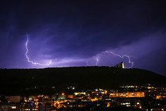 Yesterday over Shumen... (Hasan Yuzeir 📷) Tags: thunder lightning storm sky night shumen hasanyuzeir canon 1300d cloud