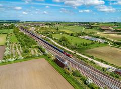 60044 at Wrawby Junction (robmcrorie) Tags: 60044 60087 class 60 wrawby junction barnetby lincolnshire signal box 6m00 humber oil refinery kingsbury train rail railway freight railfan phantom 4