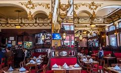 2018 - Mexico City - La Opera - 1 of 2 (Ted's photos - For Me & You) Tags: 2018 cdmx cityofmexico cropped mexico mexicocity nikon nikond750 nikonfx tedmcgrath tedsphotos tedsphotosmexico vignetting restaurant laopera cafe catina tables chairs napkins