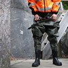 Armeewathose-Bach4255 (Kanalgummi) Tags: sewer worker rubber chest waders wathose gummihose hiviz kanalarbeiter égoutier