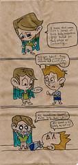 FITNESS (CrazyUncleJoe-MoPho) Tags: sketch snackbag lunchbagart