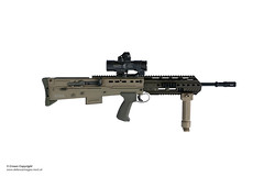 New SA80 A3 Assault Rifle (Defence Images) Tags: vertical forward handgrip attachment elcanspecteros 556mm l85a3 a3 sa80 assaultrifle smallarms firearm gun weapons equipment army studioshot defence defense uk british military stanta norfolk