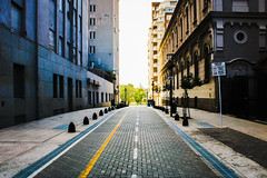 Down the Street - Buenos Aires (benjamin.t.kemp) Tags: argentina urban road street city buildings light colours coloursinourworld