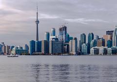 Toronto unpacking (Adaptabilly) Tags: toronto ferry building tree travel cntower water ontario architecture canada sky skyline lumixgx7 clouds