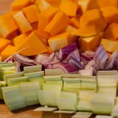 Vegetables (missionverdana) Tags: butternutsquash celery redonion choppedvegetables