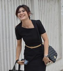 beauty in black (the foreign photographer - ฝรั่งถ่) Tags: apr122014nikon beauty black woman sophisticated phahoyolthin road bangkhen bangkok thailand nikon d3200