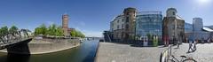 Rheinauhafen, Cologne, Germany (Martin Bärtges) Tags: nikonfotografie nikon panorama sonnenschein sonne sunshine sun spring frühling blau hinmel blue sky wasser water architektur architecture gebäude buildings hafen harbor köln cologne