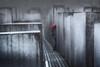 Holocaust Memorial Berlin (www.streetphotography-berlin.com) Tags: berlin holocaust memorial rain rainyday man alone walk umbrella street streetphotography streetlife perspective fineart city cityscape moody