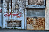 Unit 2 (CJS*64) Tags: shutters rollershutter bars graffiti cjs64 craigsunter urban dslr d7000 nikon nikkorlens nikond7000 24mm85mmlens
