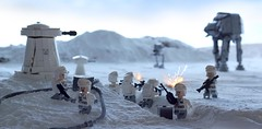 Terror in the Trenches (CozzD) Tags: lego hoth atat rebels battle empire strikes back minifig mini figure snow atst imperial laser turret