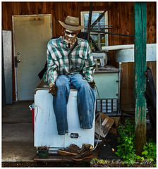 I was simply talking to one of the farmhands and his feet fell off. It was a totally benign conversation. (Fotofricassee) Tags: manikin inanimate tulmeadow scarecrow feet farmhand farm