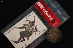 dark knight's evidences (notatoy) Tags: gcpd knight evidences joker two face batman vilains playing cards coin dark dc