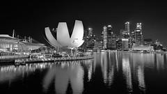 Marina Bay (faridisaad) Tags: singapore marina bay black white shoreline cityscape nigh reflections sea