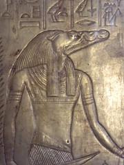 Crocodile-Headed Deity (Aidan McRae Thomson) Tags: tutankhamun shrine relief gilded golden ancient egyptian cairo museum egypt
