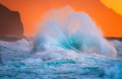 Kee Fan Wave (Ryan Moyer) Tags: hawaii kauai wave keebeach ocean sunset nature landscape waterscape storm