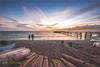 Totland Bay at sunset (Keith Morgan Photography) Tags: totland totlandbay pier sunset sun beach sea keithmorgan keithmorganphotography nikon nikond750 nikonuser