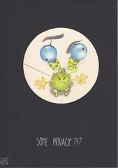 Some privacy ?!? (Klaas van den Burg) Tags: microbe humor sarcasm privacy microscoop color pencil