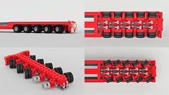 Allelys Rail Trailer Steering Mechanism (John D O'Shea) Tags: steering lego moc trailer technique