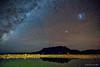 Milky Way over Mt Roland (NettyA) Tags: australia eaglesnestretreat milkyway mountain mtroland tasmania tassie westkentish aurora dam landscape night nightscape reflection sky southernlights stars water