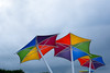 Colours in the sky (Marian Pollock) Tags: melbourne australia umbrellas sky colourful victoria beach colorful colours