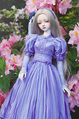 Flowers are blooming (AyuAna) Tags: bjd ball jointed doll dollfie ayuana design handmade ooak clothing clothes dress set fashion outfit couture historical secession edwardian style sewing sewingfordolls sd sd13 sd10 littlemonica little monica chloe whiteskin