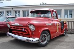 Chevrolet 3100 (Monde-Auto Passion Photos) Tags: voiture vehicule auto automobile chevrolet 3100 pickup red rouge ancienne classique rare rareté france courtenay rassemblement evenement