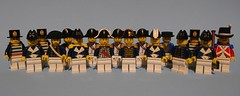 The Ships Officers, Warrant Officers, Midshipmen and Senior Rates. Now where do we find some sailors to do the hard work? (KPFR5Q2XZXQW774THJOIGWTBCI) Tags: lego hms sailor royal navy commodore admiral nelson midshipmen lieutenant captain officers pettyofficer crew