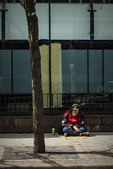 Sit In The Shadows. Windsor, ON. (Paul Thibodeau) Tags: photooftheday windsor nikond500 35mm downtown streetphotography man sitting panhandler