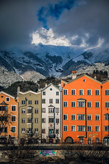 The other route (Melissa Maples) Tags: innsbruck österreich austria europe nikon d3300 ニコン 尼康 nikkor afs 18200mm f3556g 18200mmf3556g vr winter snow mountains marketplace marktplatz clouds houses