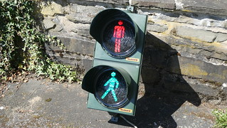 Dambach LED Pedestrian Signal with old Garufo 1 LED Modules