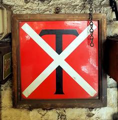 Tunnel Telephone Sign (R~P~M) Tags: sign train railway station enamel londonunderground barbican london england uk unitedkingdom greatbritain
