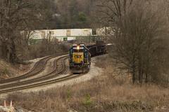 CSX W043 at CP Top of the Slide (travisnewman100) Tags: csx train railroad freight work maintenance way mow sd402 emd wa subdivision atlanta division georgia w043