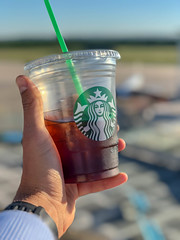 Drinking Starbucks Cold Brew Coffee at the airport (marcoverch) Tags: köln nordrheinwestfalen deutschland de drinking starbuckscoldbrewcoffee airport people menschen drink getränk outdoors drausen summer sommer hand adult erwachsene woman frau travel reise lifestyle lebensstil sky himmel glass glas one ein man mann water wasser landscape landschaft nature natur vacation ferien girl mädchen person beach strand colours candid bluesky boats bike shop england pose children restaurant