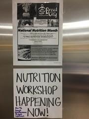 Nutrition Workshops are back at BFC!