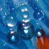 Descending Blues (Ellsasha) Tags: abstract feathers bubbles descent descending falling blues art light