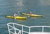 Golden Kayak's (PDX Bailey) Tags: kayak yellow bc columbia british canada man woman reflection river