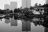 Cambrian Wharf Reflections (davva73) Tags: midlands monochrome mono blackwhite birmingham birminghamuk canon canoneos city citylife canal uk greatbritain reflection