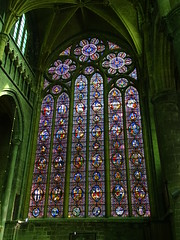 vidriera iglesia interior Colegiata Notre Dame de Dinant Belgica 01 (Rafael Gomez - http://micamara.es) Tags: vidriera iglesia interior colegiata notre dame de dinant belgica valonia bélgica